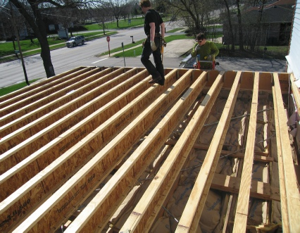 Downers Grove Master Suite addition framing